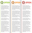 Colored options brochure background vector image vector image