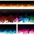 Paint splat banners background vector image