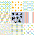 Seamless pattern easter set vector image vector image
