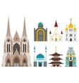 Cathedrals and churches vector image