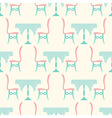 Restaurant Table with Chairs Seamless Vintage vector image