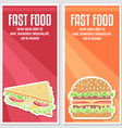 Banners of fast food design vector image