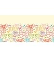 Colorful bows horizontal seamless pattern vector image