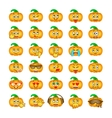 Halloween pumpkin emoji emoticons vector image