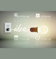 luminant bulb idea concept vector image