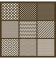 Set of 9 simple seamless monochrome patterns vector image