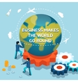 Business makes the world go round vector image vector image