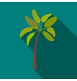 Palm tree icon flat style vector image