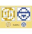 Unique sudoku set vector image