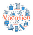 blue winter vacation concept vector image