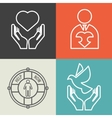 Charity donation and volunteer concept vector image
