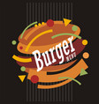 creative artistic burger design vector image