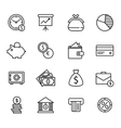 Finance and bank Icon Set vector image