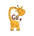Giraffe Funny Alphabet Animal vector image
