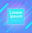 neon graphic banner with abstract copy space vector image