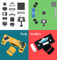 Office and Presentation Icons vector image