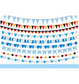 oktoberfest set of flags bunting garland vector image