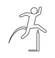 pictogram man practice athletics sport vector image