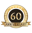 Sixty Year Anniversary Badge vector image