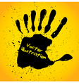 Hand print with seven fingers vector image