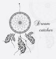 dream catcher white background vector image