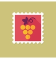 Grapes flat stamp with long shadow vector image