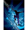 abstract skateboarder vector image vector image