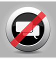 gray chrome button - no speech bubbles vector image