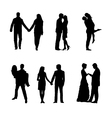 Romance and love silhouettes vector