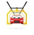 Car production line auto vector image