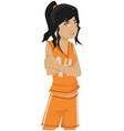 Basketball girl vector image