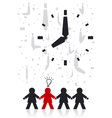 Businessman and Time vector image