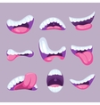 Cartoon mouths expressions set vector image