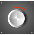chrome volume knob eps10 vector image