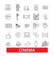 cinema film movietheatre entertainment vector image