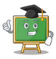 graduation chalk board character cartoon vector image
