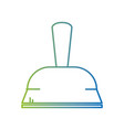 line dustpan domestic equipment to clean home vector image