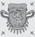 lion on the shield badges vector image