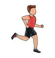 man avatar running icon image vector image