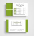 Modern green light business card template vector image