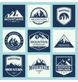 Mountain travel outdoor adventures logo set vector image