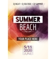 Summer beach party flyer template design Summer vector image