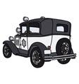Vintage police car vector image