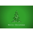 Green Christmas Greeting vector image vector image