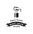 Beauty Salon Badge Nail Polish Makeup Ribbon Logo vector image