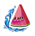 Background with watermelon slice vector image