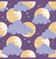 moon in clouds pattern for chinese mid autumn vector image