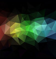 abstract rainbow polygon background vector image