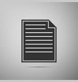 document icon isolated on grey background vector image