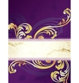 gold and purple banner vector image vector image